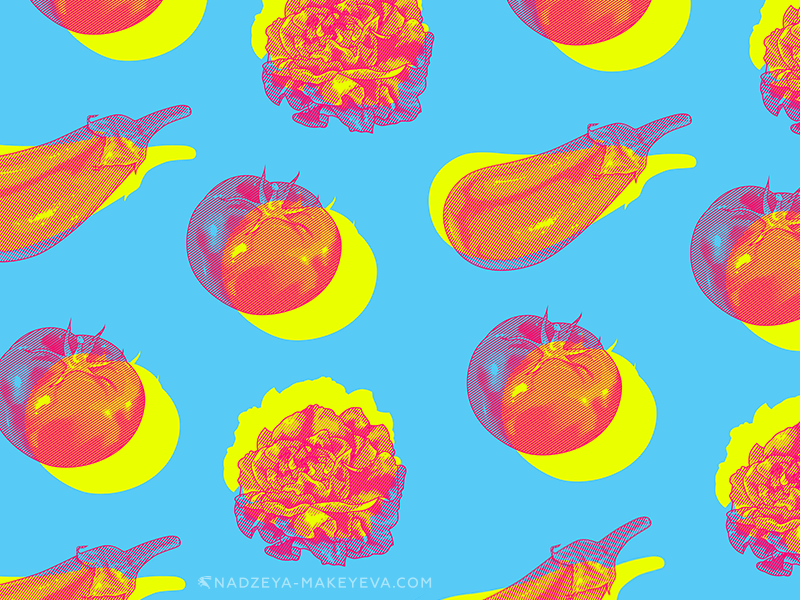 2 «Vegetable Pattern» for Havas Paris.png